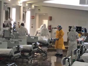 Imagen de archivo de la UCI instalada en la capilla del Virgen de las Nieves.