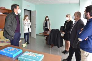 Visita del alcalde de Baza a las instalaciones.