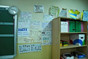 Imagen de archivo de un aula.