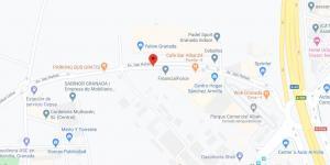 Localización de la Avenida San Rafael de Armilla, junto a la rotonda de la Circunvalación.