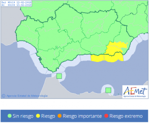 Aviso amarillo en la Costa de Granada.