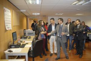 Visita del alcalde a las instalaciones de Arquisocial, la empresa concesionaria.