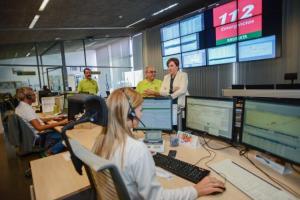 Sala de Emergencias 112 en Granada.