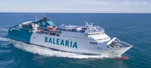 Ferri de la naviera Balearia, que realizará la primera salida de Tánger el 22 de mayo