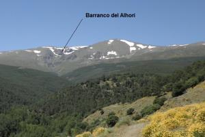 Barranco del Alhorí, junto al Picón de Jérez.