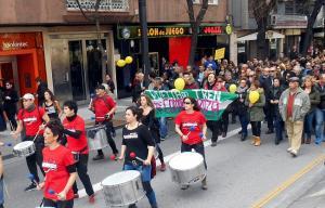 Amplia presencia de la comarca de Baza en la manifestación del pasado domingo.