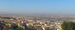 Nube de polución sobre el extrarradio de Granada, hace unos días.