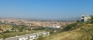 Contaminación sobre Granada y el extrarradio, el sábado 30 de mayo.