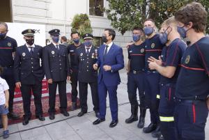 Imagen de archivo del acto de posesión de los últimos bomberos que se han incorporado al Cuerpo.
