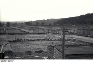 Construcción del campo de Gusen.
