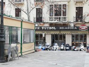 La terraza del conocido establecimiento ha menguado.