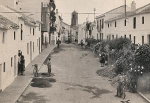 Foto antigua de la Calle Nueva de Huétor Tájar.