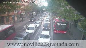 Tráfico en Méndez Núñez en dirección a Doctor Olóriz.