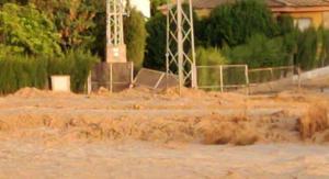 Inundaciones de este lunes por la tarde en Campotéjar.