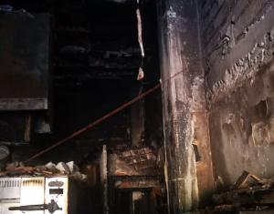 Imagen del destrozo del local.