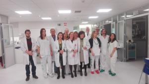 Integrantes de la nueva unidad de Cuidados Intensivos Cardiológicos.