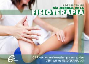 Cartel del sindicato sobre el Día Internacional de la Fisioterapia.