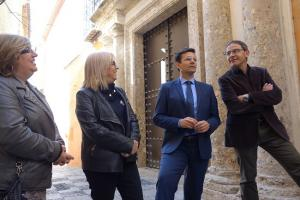 Francisco Cuenca con los concejales Miguel Ángel Fernández Madrid, María de Leyva y Ana Muñoz.