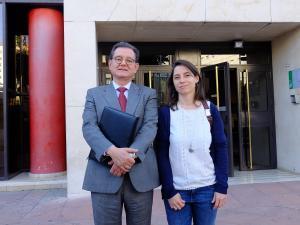 Carlos Castresana y Marta Gutiérrez.