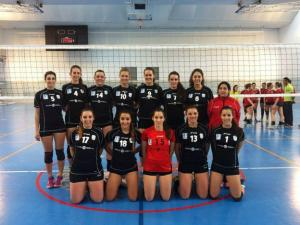 Equipo femenino de voleibol de la UGR.