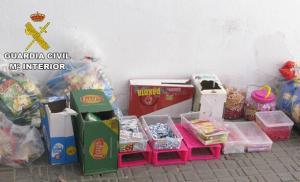 Parte de los productos robados.