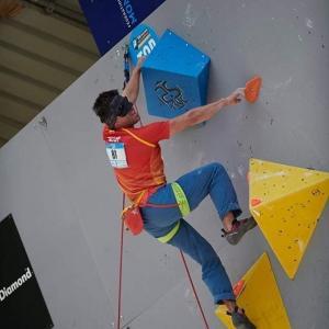 Javier Aguilar, durante la competición.