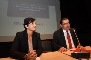 José Entrena y Mercedes Garzón, en la clausura de las jornadas.