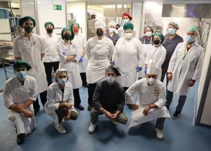 Profesionales y alumnos en las jornadas en el Virgen de las Nieves.
