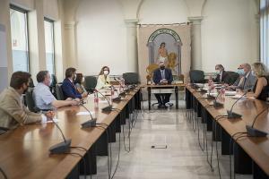 Imagen de la comisión Covid para el seguimiento del curso en Granada.