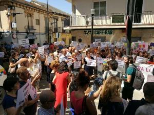 Concentración celebrada este viernes en Maracena.