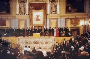 Imagen histórica del Congreso de los Diputados.
