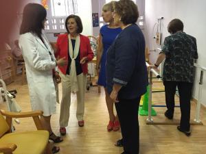 La consejera, durante su visita a la asociación.