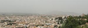 Contaminación sobre Granada y el Área Metropolitana.