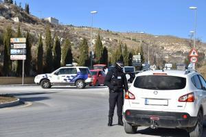 Control policial en los accesos a Baza.