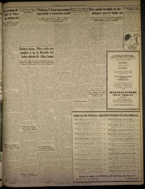 Copia de la noticia aparecida en el diario La Prensa en 1937.