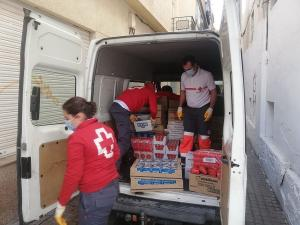 Voluntarios de Cruz Roja.