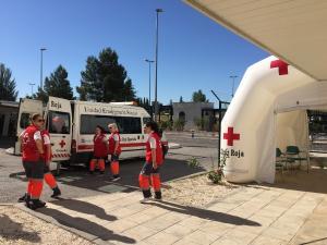 Cruz Roja, presente en el operativo.
