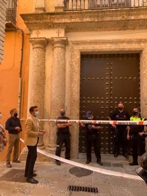 Cuenca, este jueves, a las puertas de la Casa Ágreda.