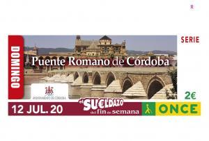 El cupón llevaba la imagen de puente romano de Córdoba.