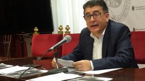 Manuel Martín, este miércoles en rueda de prensa.