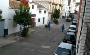 El Ayuntamiento ha retomado las tareas de desinfección.