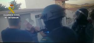 Detención de uno de los atracadores.