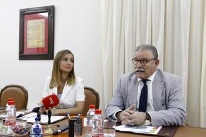 Silvia Diéguez y Eduardo Torres, en rueda de prensa este jueves.