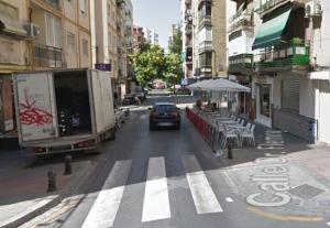 El bar asaltado, en la calle Doctor Castroviejo.