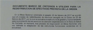 Documento marco suscrito hoy por los sindicatos.