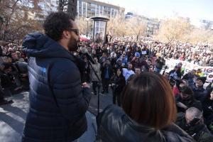 Candel, al finalizar la manifestación del pasado 15 de enero.