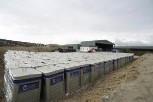Parte de los nuevos contenedores adquiridos para los municipios de la provincia.