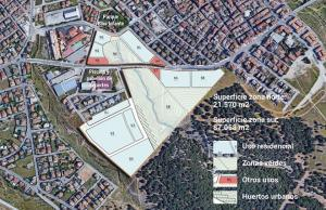 Plano de distribución del 'ecobarrio'.