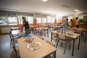 Comedor de un centro escolar.