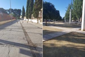 Las calles que estaban llenas de restos de botellón, de nuevo limpias.